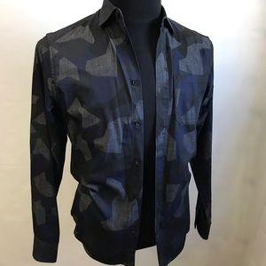 Armani Exchange long sleeve button down shirt XS